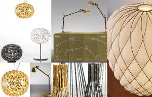2 lamp gold