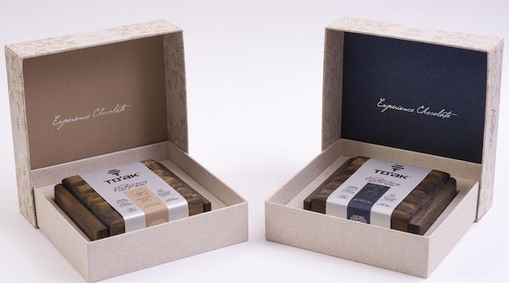 Packaging Cognac and Elm choco