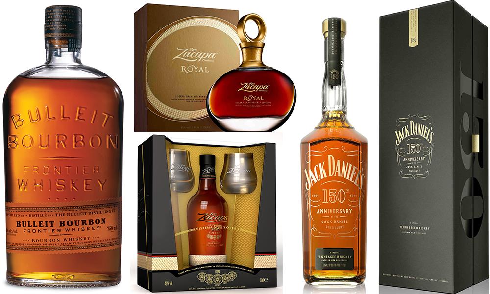 bourbon bulleit whiskey rum zacapa royal bottle e diageo reserva jackdaniels whiskey