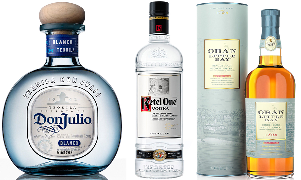 tequila don julio blanco vodka ketel one white whiskey oban