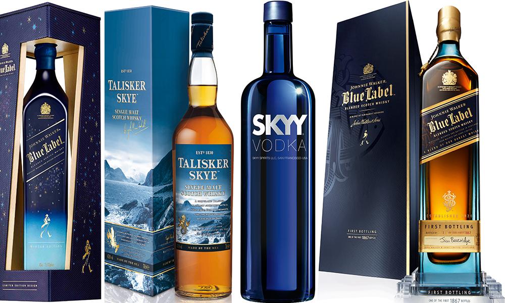 whisky Johnnie Walker blue label winter edition diageo whisky talisker SKY Vodka blu whisky Johnnie Walker blue label