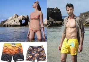 9 calipso beach look parah mare e uomo superdry
