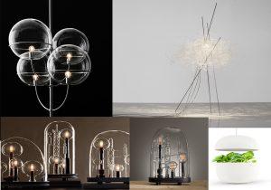 Oluce con lo storico Lyndon di Vico Magistretti / Pili table lamp di Arturo Alvarez / The Chemistry Series lamp di Silvio Mondino Studio / Plantui Italia