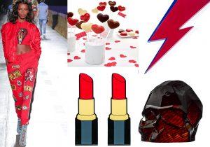 look PhilippPlein / stampo LeccaLecca a Cuore di Lékué / HomeSweetHome Lipstick e Galactica WallFlash Altreforme / Skull di MementoMori per Nude