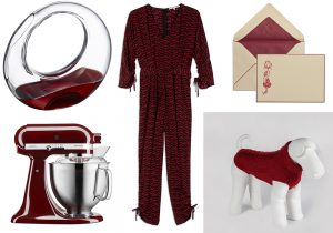 Decanter Nude by Ron Arad / Robot da Cucina Artisan di KitchenAid / jumpsuit StellaMcCartney / Lettera Rosa di Pineider / dog suit by Emma Firenze
