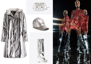 Alysi silver coat / band and boots by Maison Margiela / Diesel cap / Manuel Facchini total look