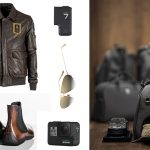 Areonautica Militare Jacket / boots Ferrari exclusive limited edition for Berluti / GoPro 7 camera / Eyewear by Dior / Automobili Lamborghini driving luggage and shoes