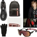 Camper Toðer boots by Kiko Kostadinov / Falconeri wool gloves / Bally original backpack and belt / Bad Deal total look / Carrera Epica frame by Safilo