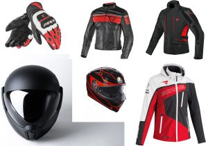 Dainese gloves and jacket / Helmets by AGV and Corsshelmet Softchell racing
