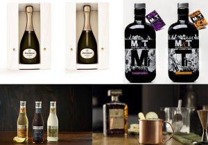 Dom Ruinart Blanc de Blanc champagne Mi&Ti Rum collection Fever Tree Tonic Water and Chinotto Di Saronno mule