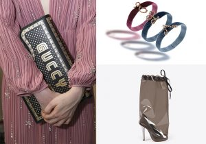 Dress and bag by Gucci / bracelets by Agapanthus / Design shoes by Maison Margiela