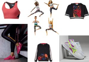Mizuno Alpha Bra / Puma x Barbie apparel and sneakers / Barbie Yoga by Mattel / Nok a oi collection / Reebok Pyro sneakers