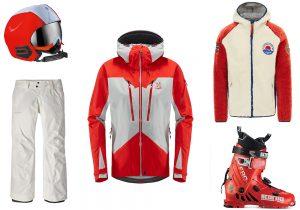 Moncler Grenoble helmet / Haglofs ski jacket / Patagonia insulated pants / Napapijri pile / Scarpa Alpine ski boots