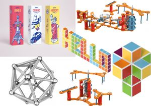 Omy Games in vendita da Moroni Gomma / Geomag Mechanics Gravity 243 e Geomag Pro-L pocket set / Magicube Geomag Free Building