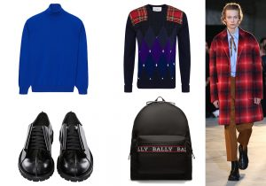 Pullover by Falconeri / Knitwear by Ballantyne / Moncler Genious shoes by Craig Green / backpack by Bally / Total look N.21