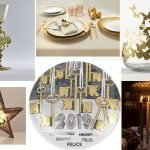 Tipetto Dragon glass by LaDoubleJ / Vallesusa table by Gabel group / MadameB table bowl by Opinion Ciatti / Lesara Christmas star light / Fornasetti Calendar Plate Table / Candles sticks by Skultuna