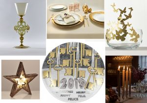 Tipetto Dragon glass by LaDoubleJ Vallesusa table Gabel group MadameB table bowl by Opinion Ciatti Lesara Christmas star light Fornasetti Calendar Plate Table candles by Skultuna