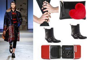 Total look N.21 / Rings collections by Nadine S / Gum Design pochette / cowboy boots by Diesel / Brionvega sound machine