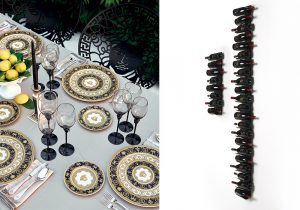 Versace Home and Rosenthal 'I heart BAroque' PTolomeo Wine wall by Opinion Ciatti.
