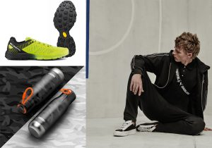 Zoku bottles by Kunzi / Spin sneaker by Scarpa and Vibram / Karl Lagerfeld apparel and sneakers for Puma
