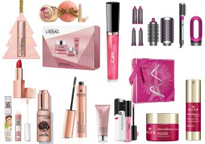Too Faced peach set make-up and mascara Lierac supra-radiance cream kit ICare glowing gloss Hairwrap Dyson distribuito da QVC The Balm plump your Pucher Smashbox shimmer drops RoseGold Rilastil maquillage RoseGold Rodial pink cleansing balm Rouge Basier Paris intensament mat Lancome Prestige Christmas box Nuxe Merveillance expert serum and lift cream