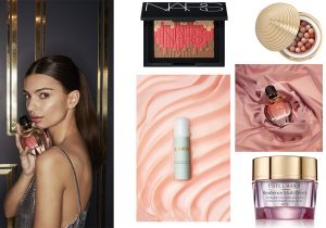Pure XS for Her parfum by Paco Rabanne / Mosaic Glow Blush by Nars / Bronze All Over by Wake Up Cosmetics / Rejuvenating Hand Serum by LaMer / Resilience multieffect face and neck cream by Estee Lauder