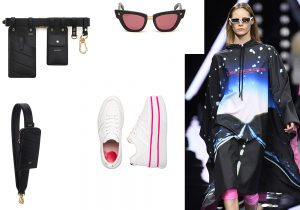 Fendi cross-body accessories / DSquared2 anniversary eyewear edition / Sneakers Hogan / total look County of Milan by Marcelo Burlon