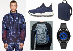 Stone Island Shadow project / look zaino Stone Island / sneakers Timberland / Moleskine backpack / Emporio Armani touchscreen watch