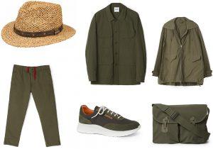 cappello Stetson / Aspesi total look: giacca, pantalone, raincoat jacket, postina e sneakers