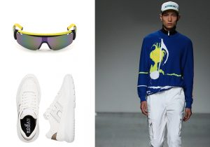 mascherina DSquared2 / sneakers Hogan / total lokk Iceberg