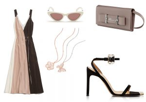 vestito Alysi / occhiali Just Cavalli / clutch Blumarine / collier bijoux Nomination / sandalo Giannico