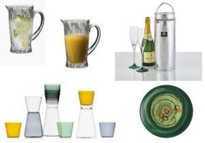Brocche Reidel / Linea bicchieri e brocche Ichendorf by Keiji Takeuchi / Rinfresca Champagne by Be Cooll di Schonhuber / piatti 'Caos' di Brandani