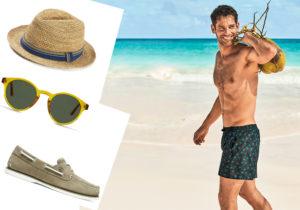 Cappello e occhiali Mango / Timberland boatshoes / costume Calzedonia