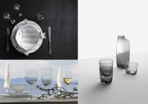 Collezione di porcellane 'Marina' di Virginia Casa / Linea di calici 'Veritas' di Riedel / bicchieri e caraffa Ichendorf