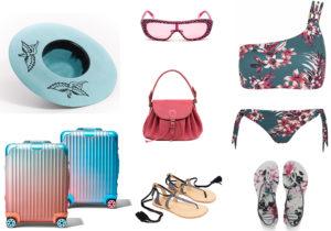 Superdruper hat / occhiali Victoria Secret's / borsa Il Bisonte / valigeria Rimowa / infradito Pomandere / costume Iris& Lilly su Amazon moda / cibattine Hawaianas