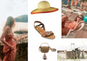 Abito e costume Mi Mi a La Mer / cappello Marzi / sandali Marni / borsa Il Bisonte / picnic set di Segaform by Schonhuber Group