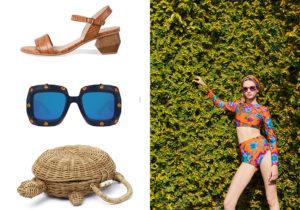 sandali cocco Wonders / occhiali Gucci Cruise / tartatuga bag Mango / beachwear LaDoubleJ