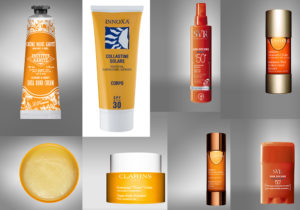 Almond & Honey Shea Hand Cream by Instiut Karitè / Protetettivo Elasticizzante Collastine Solare Corpo di Innoxa Sun / Secure Spry e Stick di SVR / Radiance Plus Gommage 'Tonic' Corp and booster by Clarins