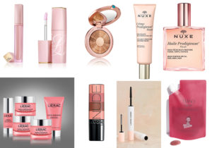 Lip Repair Potion e Lipstick Volumizer by Estee Lauder / Bronze Gold illuminante viso di Estee Lauder / Base Boost Viso Crema Prodigiuose e Huilie Prodigiouse Floreale corpo di Nuxe / Supra Radiance cream set di Lierac / Perfectly matte Lipstick di Avon / Mascana Honest Beauty di Jessica Alba con Douglas / Reset Cleaser Romantic Dream di Waso
