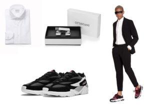 camicia Bagutta Uomo / Ottaviani elegance set / scarpe Fila 'Reflective' / look Hydrogen capsule Carvico