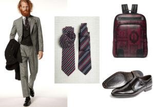 look Lardini / cravatte Fiorio / zaino A.Testoni / scarpe Tagliatore
