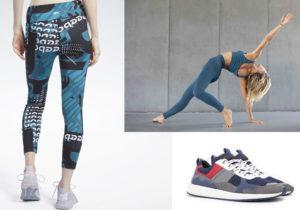 Leggings e sneakers di Reebok / Top e leggings della linea Yoga di Ecoalf / snekars di Moa Master of Arts