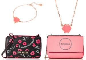 borsette Calvin Klein e Moschino viste su Amazon / bijoux 'Love25 Collection' di Nove25