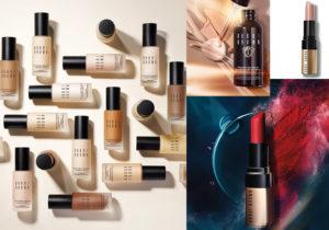 Make-up di Bobbi Brown Cosmetics con correttori e fondotinta per la pelle, anche quello con siero intensivo e alta protezione, i rossetti volumizzanti e idratanti