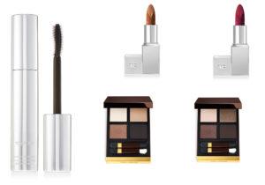Tom Ford make-up: Extreme lash / Lip Spark Destroy e Starstruck / Eye color quad Mink Mirage e Noir Fumè