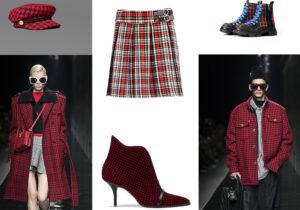 Berretto Manila Grace / looks Versace / minigonna Motivi / stivaletti Malone Souliers / boots B5 Shanghai
