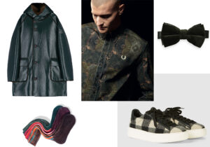 Giaccone OOF Milano / calze Alto Milano / camicia Fred Perry / cravattino Scoth&Soda / sneakers Woolrich /