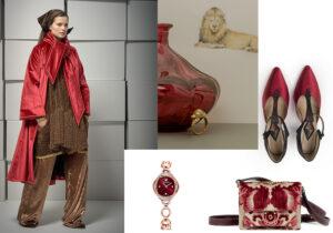 Look Gianluca Capannolo / anello Leone di Bona Calvi / orologio Swarovski / borsa Marni / scarpe L'Arabesque /