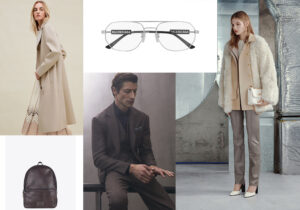 Look Loropiana - zainetto Gavazzeni - occhiali Balenciaga by Kering - look Brunello Cucinelli - look Bally