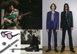 Look Versace Jeans Couture (immagine ADV) - occhiali Gucci by Kering - gioielli Nove 25 - stivali Apocalypse di Giuseppe Zanotti - look Givenchy Man
